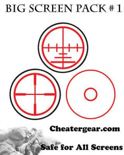 Cheatergear Big Screen Pack 1, TV Screen Safe Aiming Targets, FPS Aim