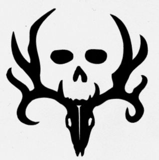 Bone Collector Logo Deer Hunting Skull Firearms Gun Decal Custom