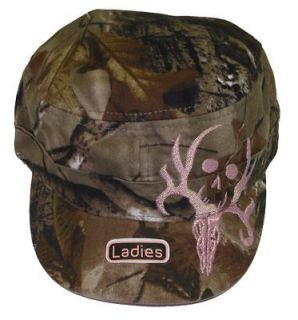 Bone Collector Ladies Pink Skull and Camo Military Cap Deer Hunting