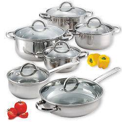 Cook N Home 12 piece Stainless Steel Cookware Set New