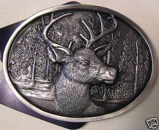 Big Buck DEER Head Belt BUCKLE Hunt Hunting Hunter NEW