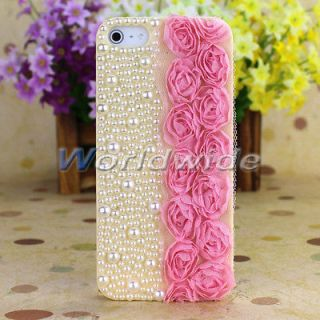 Luxury Princess Back Case Cover For iPhone 5 5G Cute PINK Lace Flowers