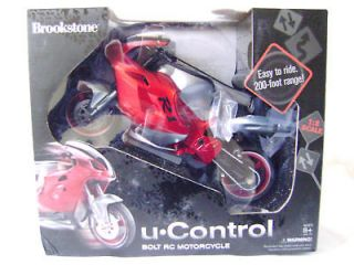 Brookstone U.Control Bolt RC Motorcycle NEW