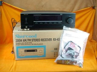Sherwood RX 4105 2 Channel 100 Watt Stereo Receiver NEW In Box