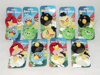 ANGRY BIRDS PLUSH BEAN BAGS 2 PACK   CHOICE OF 9 PACKS   NEW