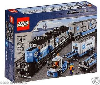 LEGO Maersk Train 10219 FREIGHT EngineContainer Car 9V RC RARE Creator