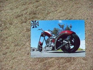 RARE JESSE JAMES CFL WEST COAST CHOPPERS BIKE COLOR PHOTOGRAPH