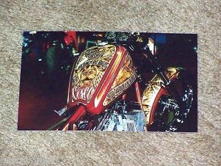 JESSE JAMES CFL WEST COAST CHOPPERS CISCO PIT BULL DOG MEMORIAL BIKE