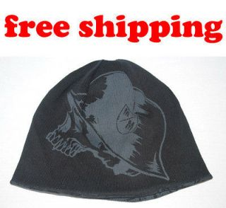 Metal Mulisha reversible SKULL WINTER knit Crucial beanie CAP HAT