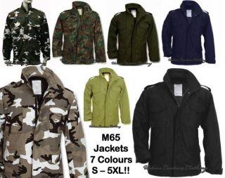 M65 MILITARY FIELD COMBAT ARMY JACKET COAT   BLACK OLIVE BEIGE NAVY