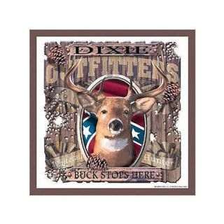 Dixie Outfitters Buck Stops Here Deer Tin Sign 14x14