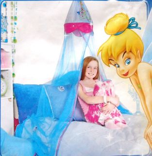 Disney Princess Tinkerbell Fairies Twin Bed Canopy New