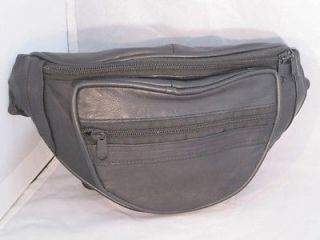 FANNY PACK BEAUTIFUL DESIGNER STYLE NEW BLACK LEATHER