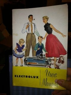 1952 Electrolux Vacuum Cleaner Users Manual