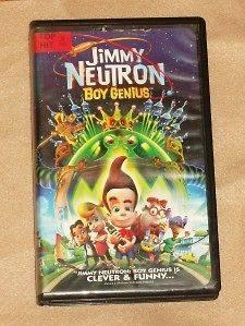 Jimmy Neutron Boy Genius (VHS, 2002, Clam Shell)