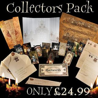 Harry Potter / Hogwarts ULTIMATE COLLECTORS Package! Letter,Tags,Ti