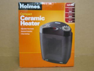 HOLMES HCH4062B COMPACT CERAMIC HEATER FOR SMALL ROOMS WITH OVERHEAT