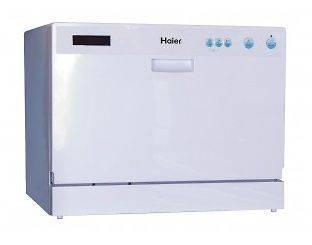 Countertop Dishwasher Energy Star : Haier Energy Star Countertop Portable Dishwasher 6 Place Setting