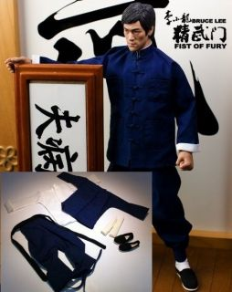 Bruce Lee 1/6 Fist of Fury Blue Suit @@@ Kung Fu RM 5 DX04 Head
