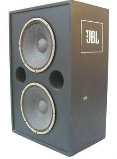 JBL MODEL 4508 BASS REFLEX CABINET w/DUAL 2225J 15 LF WOOFERS   NICE