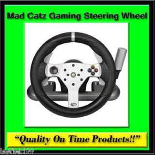 New Mad Catz Gaming Steering Wheel Wireless Xbox 360 PC Racing Shock