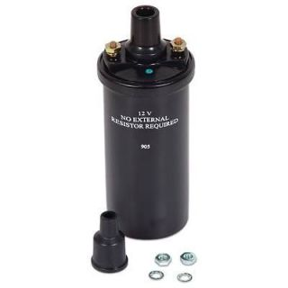 Mallory Marine Ignition Coil Marine Canister Round Oil Filled Black