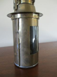vintage BRASS LANTERN nautical gas kerosene fuel
