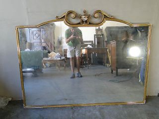 Antique Italian large gold gilted mirror