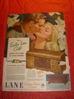 1946 Lane Cedar Hope Chest Original Print Ad Easter Love Gift