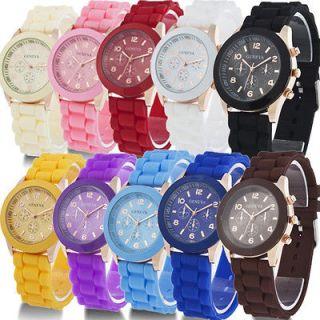Geneva Silicone Jelly Gel Quartz Analog Sports Wrist Watch Girls Women