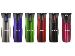 CONTIGO 16 OZ AutoSeal Stainless Steel Travel Mug 2 STYLES TO CHOOSE