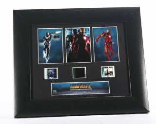 Marvel Comics Iron Man Part 2 Wood Framed Movie Film Cells Plaque NIB