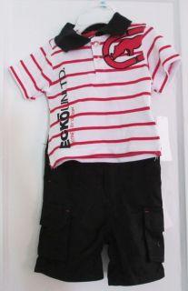 Baby Boys ECKO Unltd. Shirt & Shorts Set, Sz 6/9 M retail $44 White