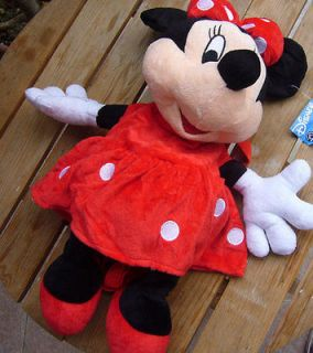 New Minnie Mouse Red School Bag Plush Backpacks Cute Lovely Gift For