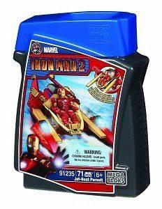 Mega Bloks Iron Man 2 Building Figure Jet Boat Pursuit MB 91235 (RARE)