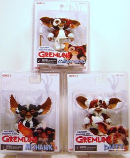 NECA GREMLINS 2 SET OF THREE MOHAWK DAFFY & GIZMO