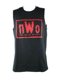 nWo New World Order Red Logo Muscle Sleeveless T shirt New