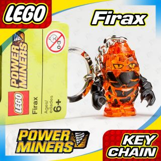 NEW LEGO Power Miners Trans Orange/Black FIRAX Rock Monster Minifigure
