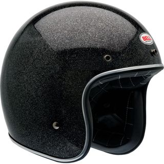 Brand New** Bell Custom 500 Motorcycle Open Face Helmet (Black Flake