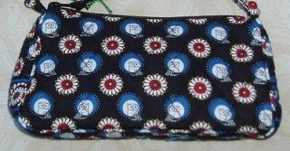 Vera Bradley *NIGHT OWL* Amy Shoulder Bag black red white and blue