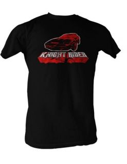 Knight Rider T Shirt Red Kitt Car David Hasselhoff Soft Adult S XXL