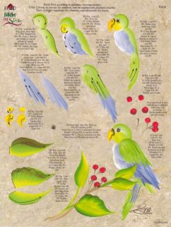 Parrot/Gold Finch RTG Worksheet by Donna Dewberry
