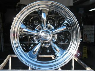 15X6 CHROME AMERICAN RACING VN815 WHEELS RIMS 5X4.75 5X4 3/4 HOT ROD