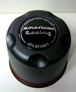 BLACK ATX AMERICAN RACING WHEELS CENTER CAPS 8 LUG TRUCK 5.15 BORE