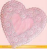 NEW 8 LOT 12 ROYAL LACE PINK HEART PAPER DOILIES DOILEY VALENTINES