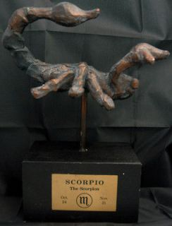 SCORPIO Zodiac Sculpture by AUSTIN PRODUCTIONS PROD. Scorpion RaRe