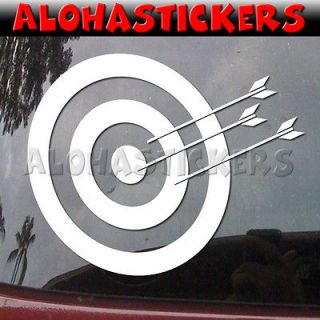 ARCHERY TARGET Hunting Car Truck Laptop Wall Vinyl Decal Window