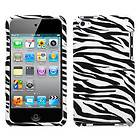 Zebra Skin Phone Snap on Hard Case Cover For Apple iPod touch 4th