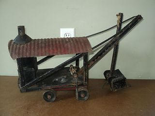 VTG Antique 1926 Pressed Steel BUDDY L Toy Steam Shovel