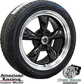 17 BLACK AMERICAN RACING TORQ THRUST WHEELS & TIRES FORD RANGER 2WD